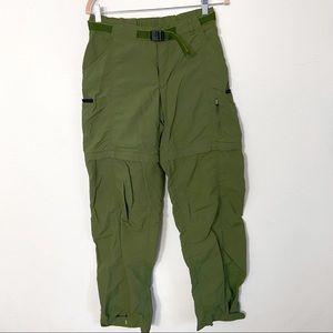 REI Convertible Zip Off Pants Green Size 6 Tall X1